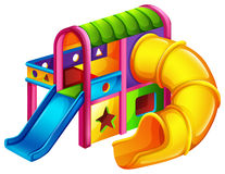 A colourful slide royalty free illustration