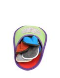 Colourful slippers into big slipper. Royalty Free Stock Images