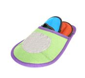 Colourful slippers into big slipper. Royalty Free Stock Photo