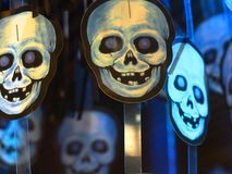 Colourful Smiling Skeleton Heads stock image