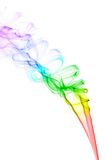 Colourful smoke on white background Royalty Free Stock Photos