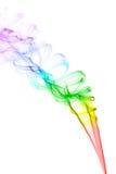 Colourful smoke on white background Royalty Free Stock Photos