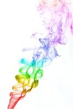 Colourful smoke on white background Stock Photography