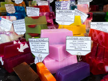 Colourful soap bars Stock Photos