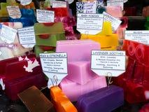 Colourful soap bars Stock Photos