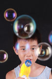 Colourful soap bubble Stock Image