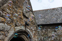 Colourful soap bubbles Royalty Free Stock Images