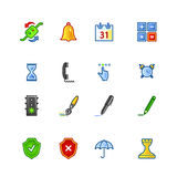 Colourful software icons. On the white background Royalty Free Stock Photo