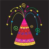 Colourful sparkler. Illustration of Colourful sparkler shooting sparks Royalty Free Stock Photo
