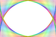 Colourful spectrum frame. Lines of colourful spectrum drawn on grids to form a frame or border Stock Images