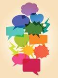 Colourful speech bubbles Stock Photos