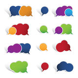 Colourful speech bubbles isolated on white backgro Stock Image