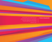 Colourful Speed stripes design template Royalty Free Stock Photo
