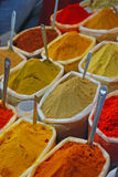 Colourful Spices in Plastic Sack Royalty Free Stock Photography