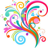 Colourful splash background Stock Images