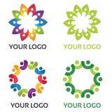 Colourful społeczność logo Zdjęcia Royalty Free