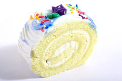 Colourful sponge roll macro Stock Images