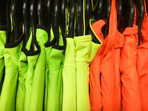 Colourful sports tops Stock Photo