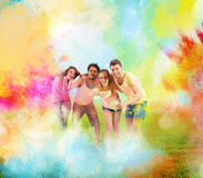 Colourful spring party stock photography