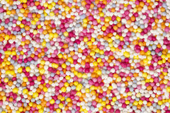 Colourful Sprinkles Viewed From Above Royalty Free Stock Images