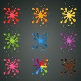 Colourful spruzza con le gocce illustrazione di stock