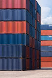 Colourful stack pattern of cargo shipping containers Royalty Free Stock Photography
