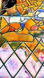 Colourful stained glass Stock Image
