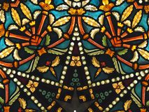 Colourful stained glass pattern Stock Images