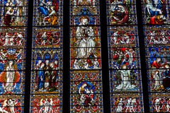 Colourful stained glass window Stock Photography