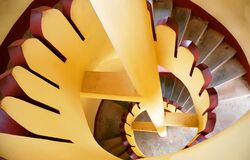 Free Colourful Stair Pattern Abstract Photography Stock Photos - 181789443