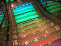 Colourful stairs. Stairs with colorful lighting Royalty Free Stock Photography