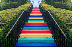 A colourful stairway Royalty Free Stock Photography