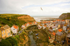 Colourful Staithes. stock photo