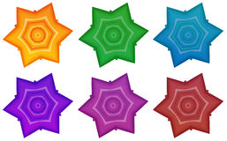 Colourful stars royalty free illustration