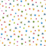 Colourful stars seamless pattern Stock Photo