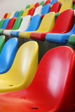 Colourful stadium seats Royalty Free Stock Photos