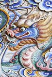 Dragon. A Colourful Statue of a Fierce Looking Dragon stock images