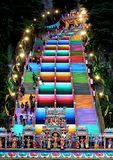 The colourful steps at Batu Caces, Mlaysia royalty free stock images