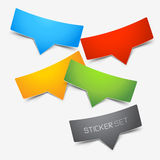Colourful Sticker Set Royalty Free Stock Images
