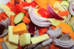 Colourful stirfry vegetables Stock Photo