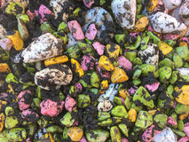 Colourful Stone background. With soil Stock Photo