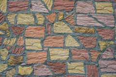 Colourful stone wall Royalty Free Stock Photos