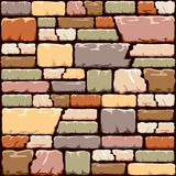 Colourful stone wall background Stock Image