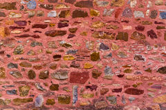 Colourful stone wall of the Red Fort Royalty Free Stock Image