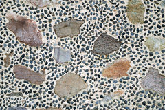 Colourful stone wall texture Royalty Free Stock Images