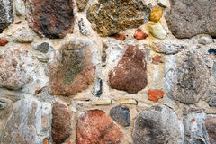 Colourful stone wall texture Stock Image
