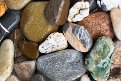 Colourful stones background Royalty Free Stock Photos