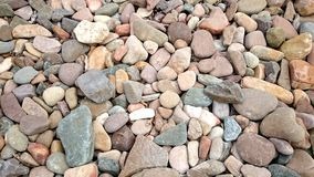 Colourful Stones on Beach Royalty Free Stock Photos