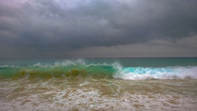 Colourful stormy ocean Royalty Free Stock Image