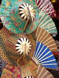 Colourful straw hats Stock Photo